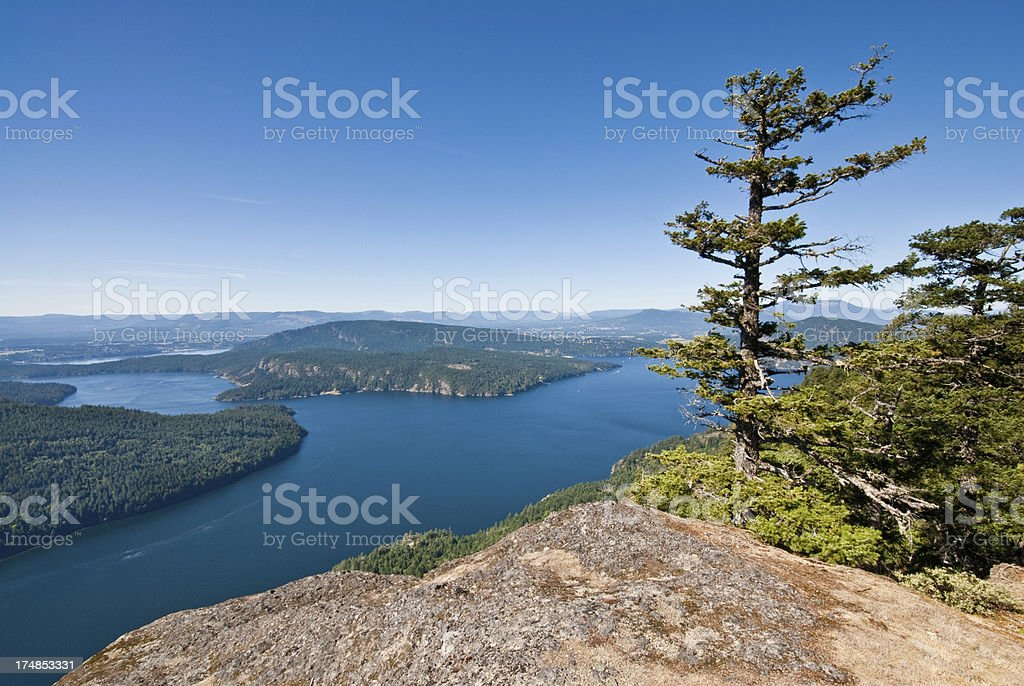 Burgoyne Bay from Mount Maxwell stock photo