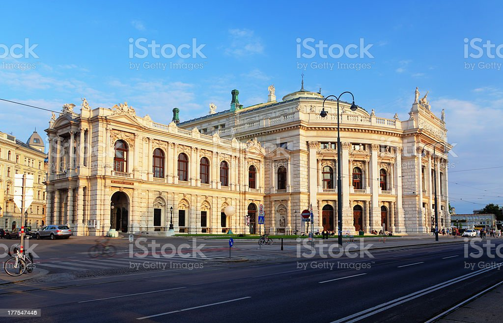 Burgtheater in Vienna, Austria. stock photo