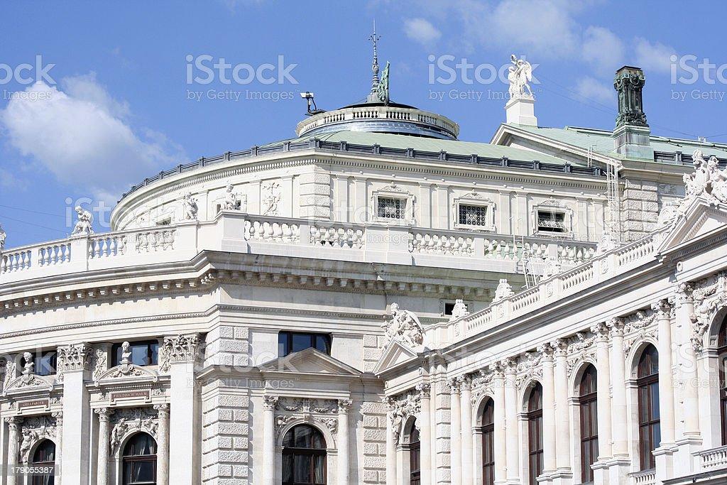Burgtheater stock photo