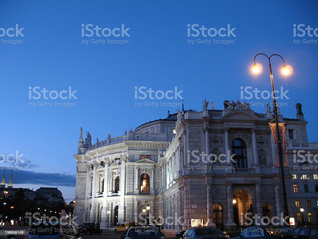 Burgtheater Vienna stock photo