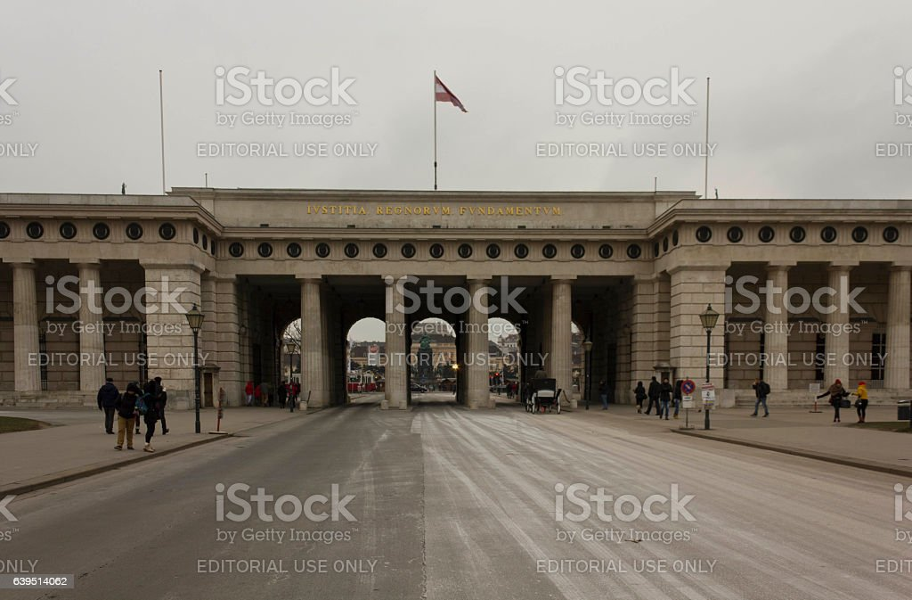 Burgtor gate in Vienna at day time stock photo
