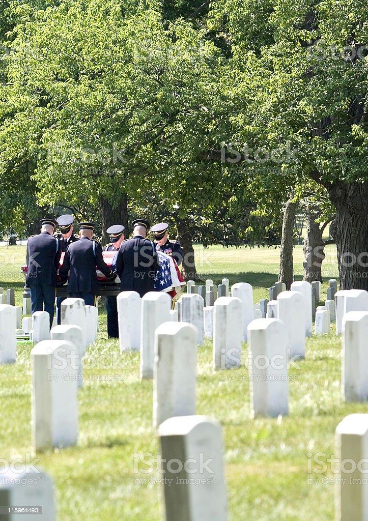 Burial at Arlington royalty-free stock photo