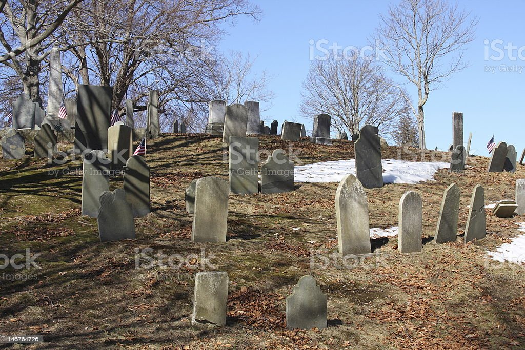 Burial Hill stock photo