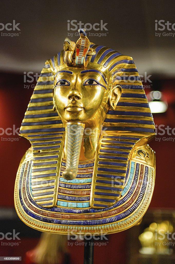 Burial mask of the egyptian pharaoh Tutankhamun stock photo