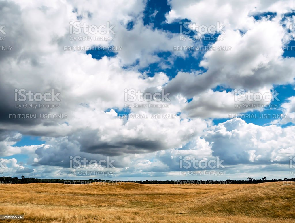 Burial mounds in Suffolk stock photo