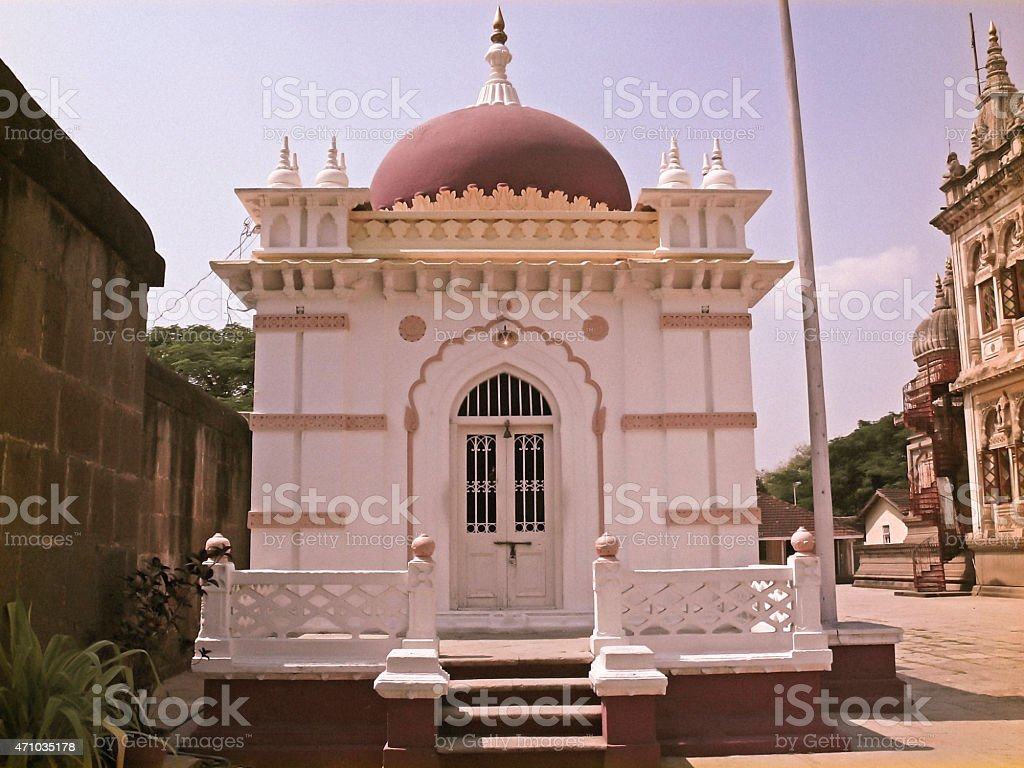 Burial place of a great warrior Mahadji Shinde, Wanowrie stock photo