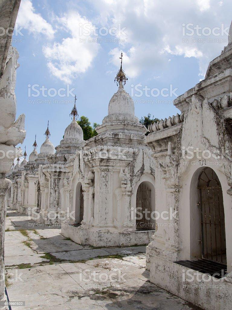 Burial stupas stock photo
