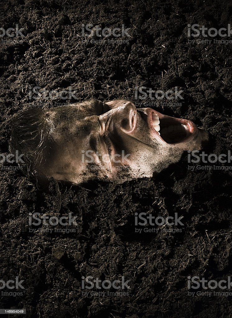 Buried Alive stock photo