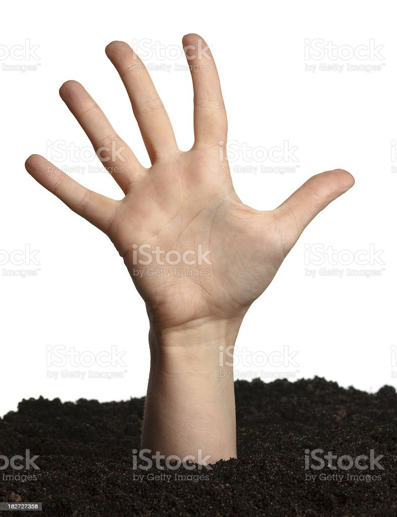buried hand royalty-free stock photo