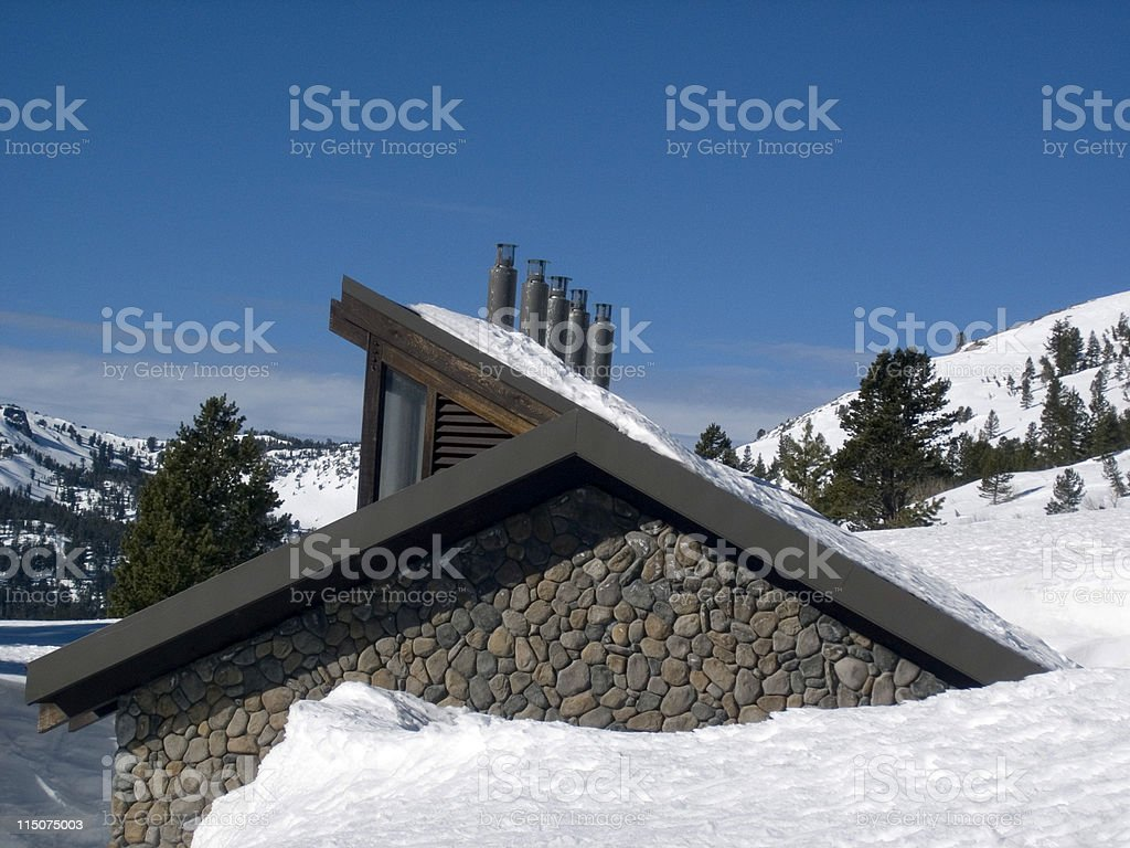 Buried in Snow royalty-free stock photo