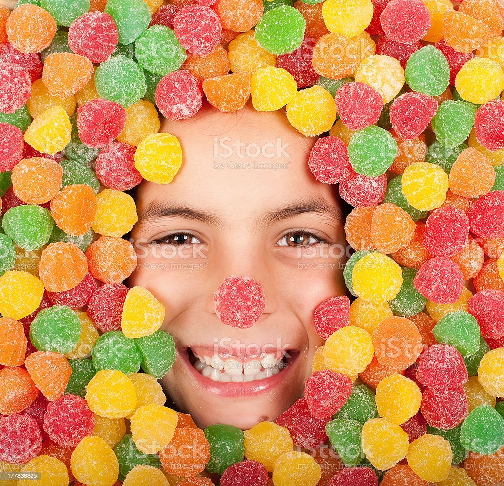 buried on jellybeans royalty-free stock photo
