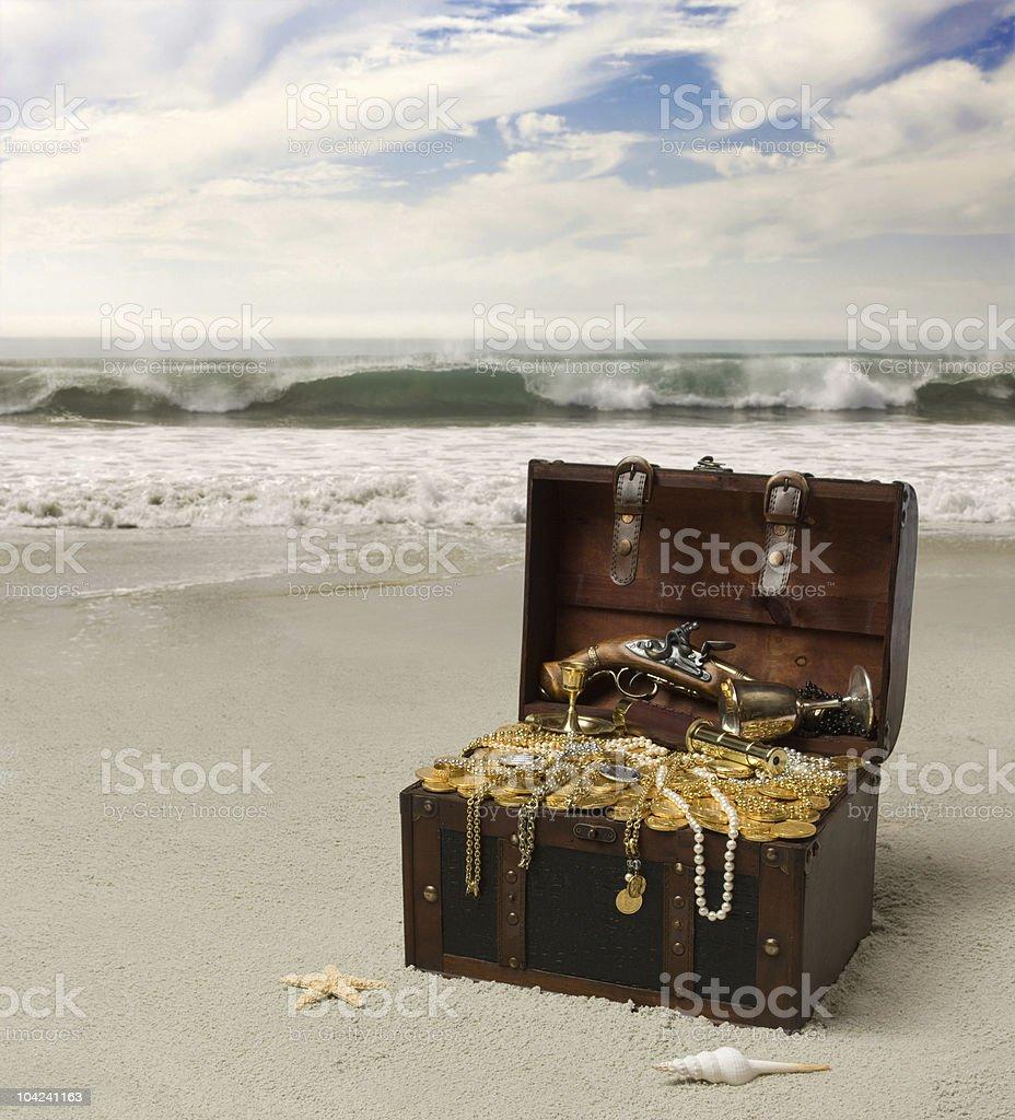 Buried Treasure royalty-free stock photo