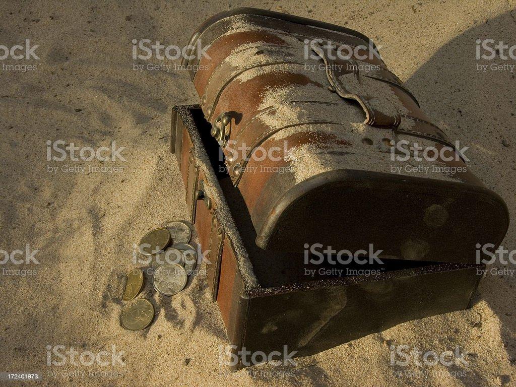 Buried Treasure stock photo