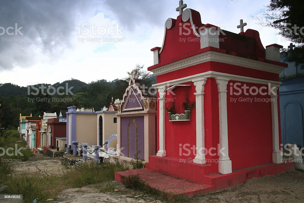buriel place in Guatemala royalty-free stock photo