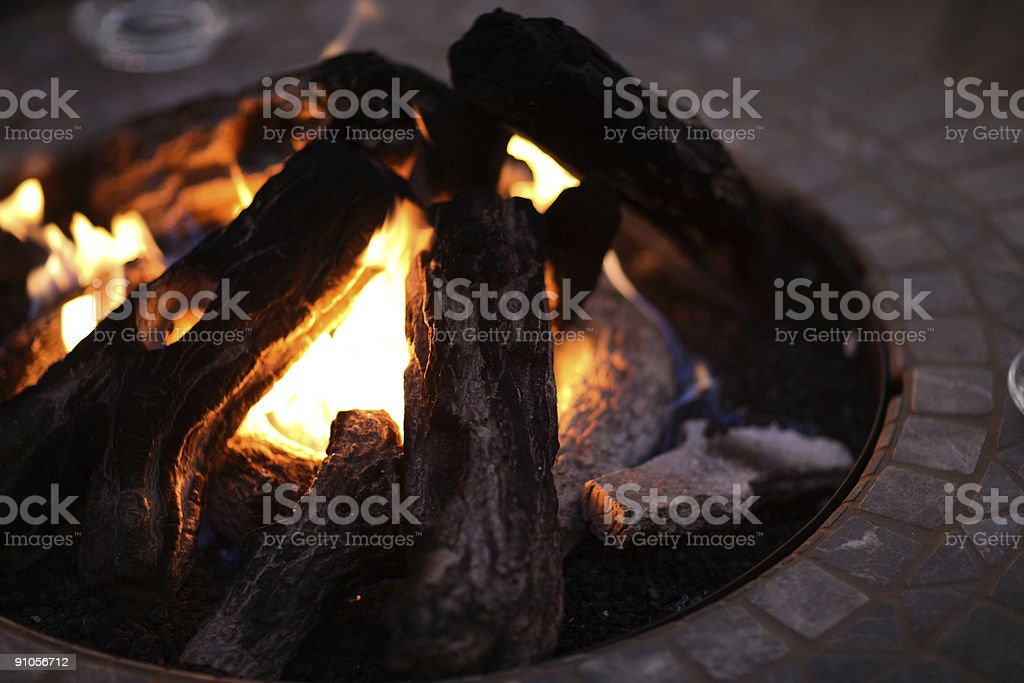 Buring Fire royalty-free stock photo