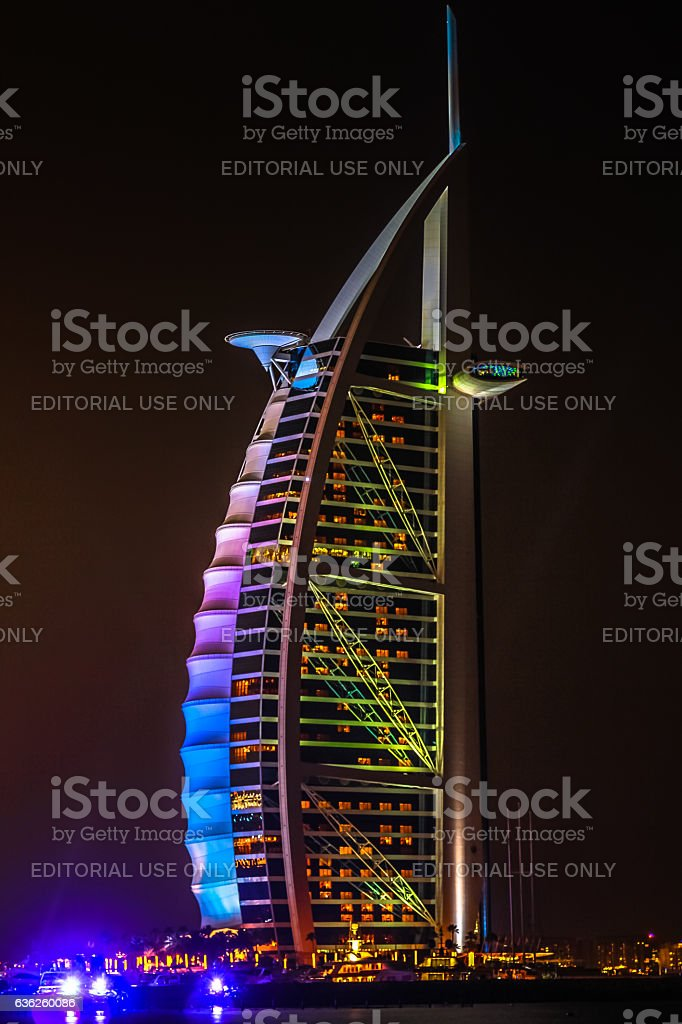 Burj Al Arab Dubai stock photo