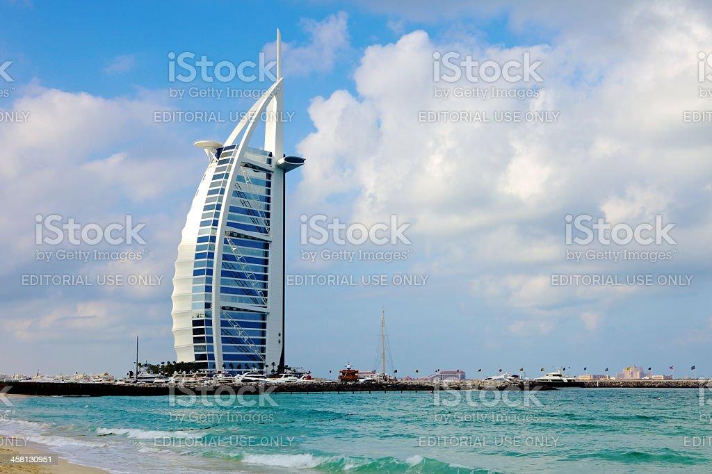 Burj Al Arab Hotel, Dubai, UNited Arab Emirates stock photo
