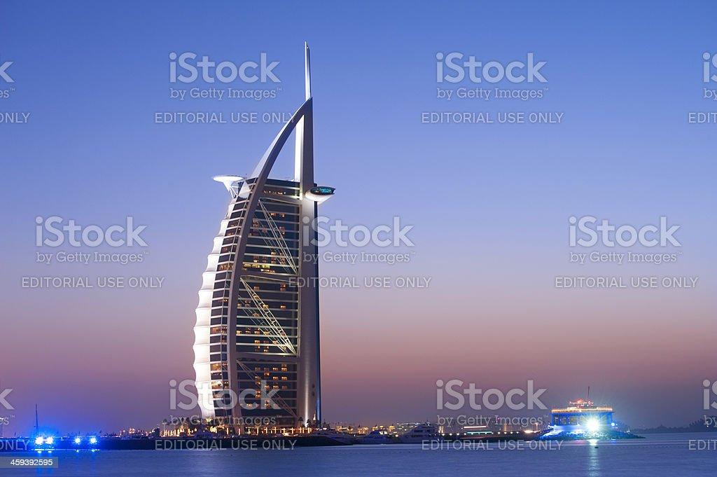 Burj Al Arab Hotel in Dubai United Arab Emirates stock photo