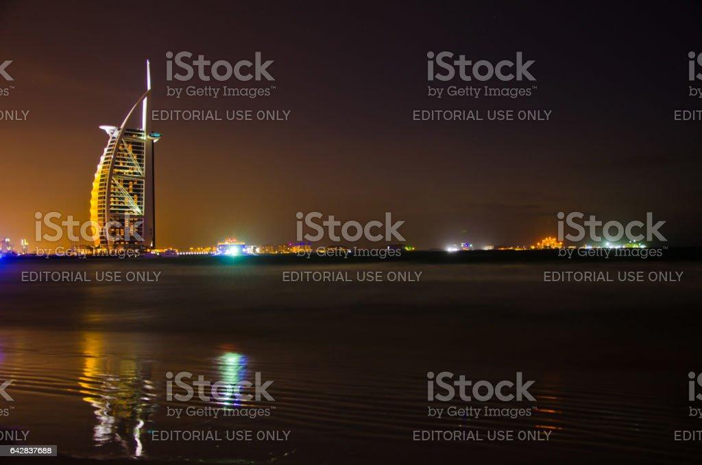 Burj al Arab hotel stock photo