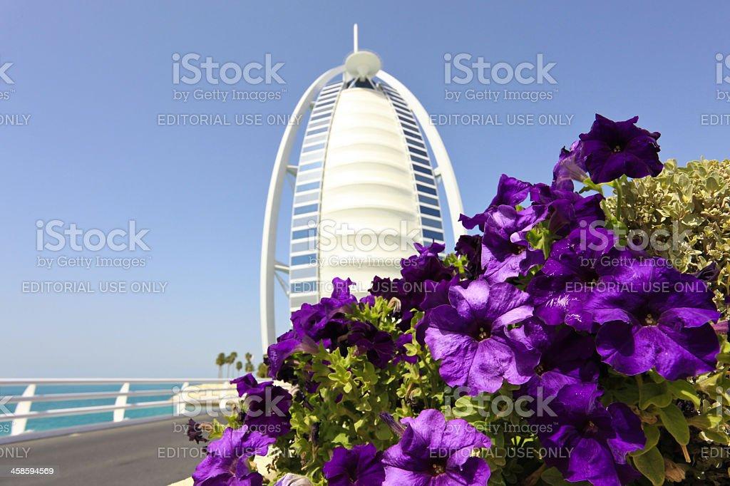 Burj Al Arab Hotel with Clear Blue Sky, Dubai, UAE royalty-free stock photo