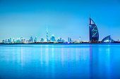 Burj Al Arab Hotel with Dubai Skyline, Dubai