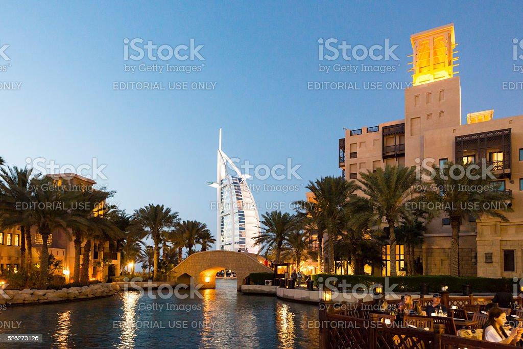 Burj Al Arab in Dubai stock photo