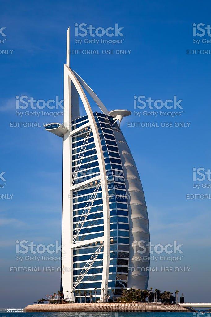 Burj Al Arab luxury hotel in Dubai stock photo