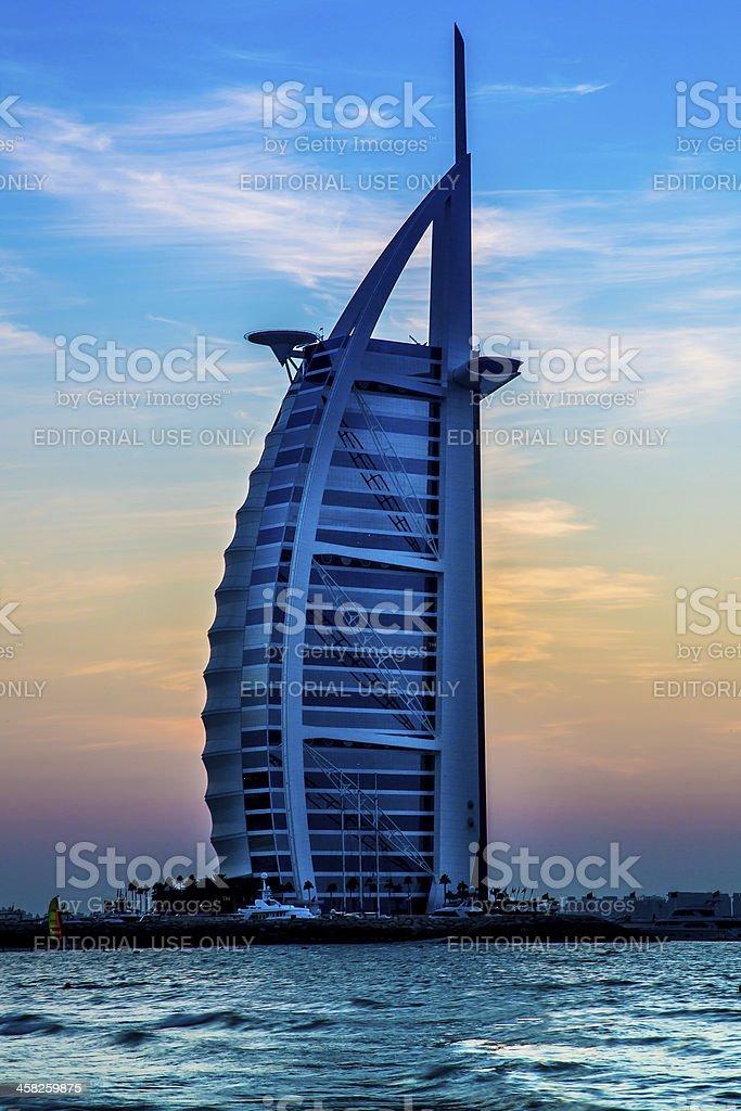 Burj Al Arab, the world's most luxurious hotel resort, Dubai royalty-free stock photo
