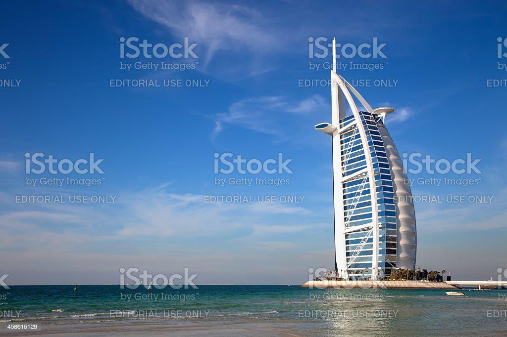 Burj Al Arab, the world's most luxurious hotel resort, Dubai stock photo