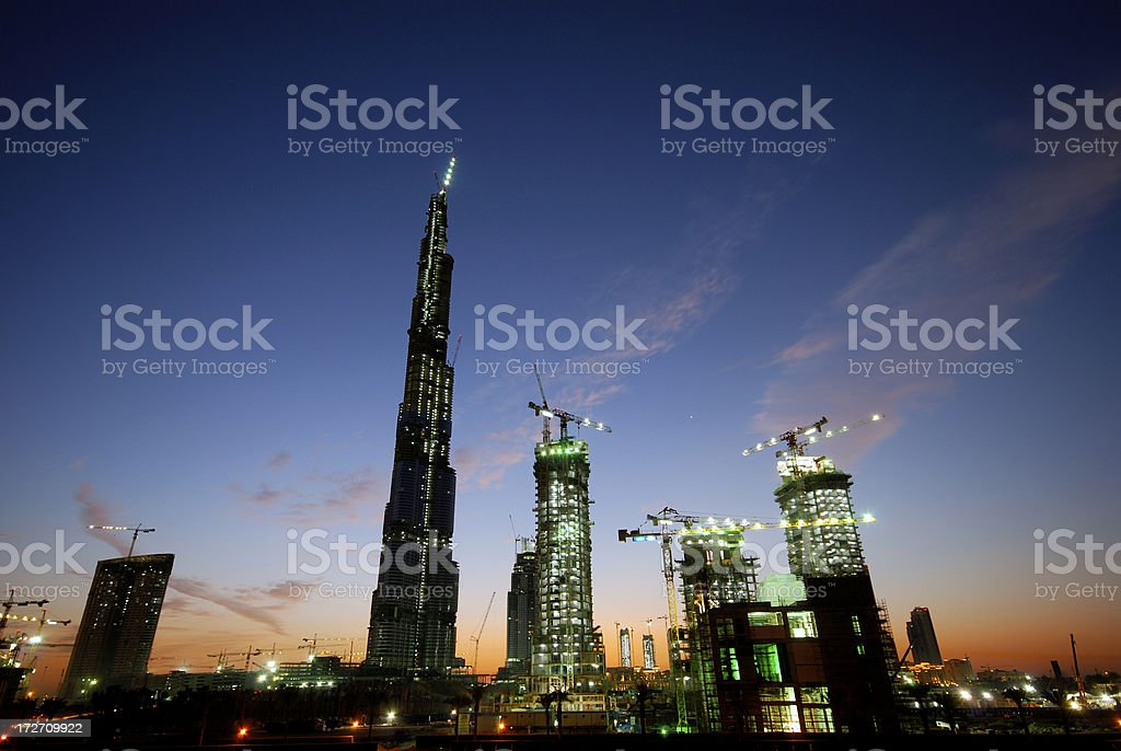 Burj Dubai Construction Site royalty-free stock photo