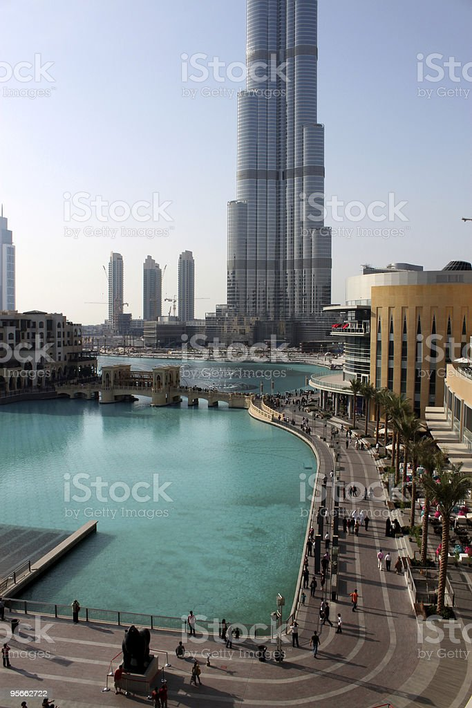 Burj Dubai Khalifa royalty-free stock photo