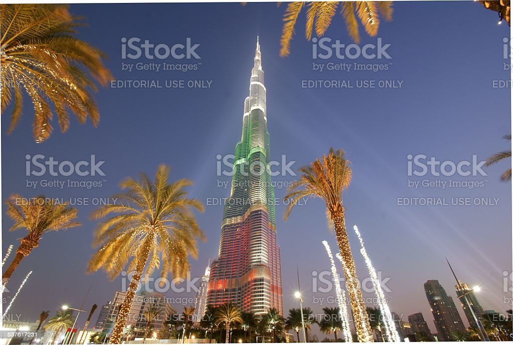Burj Khalifa (Dubai), December 2013. stock photo