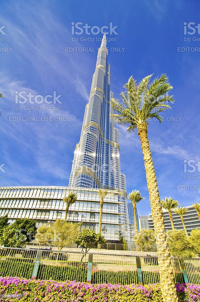 Burj Khalifa Dubai royalty-free stock photo