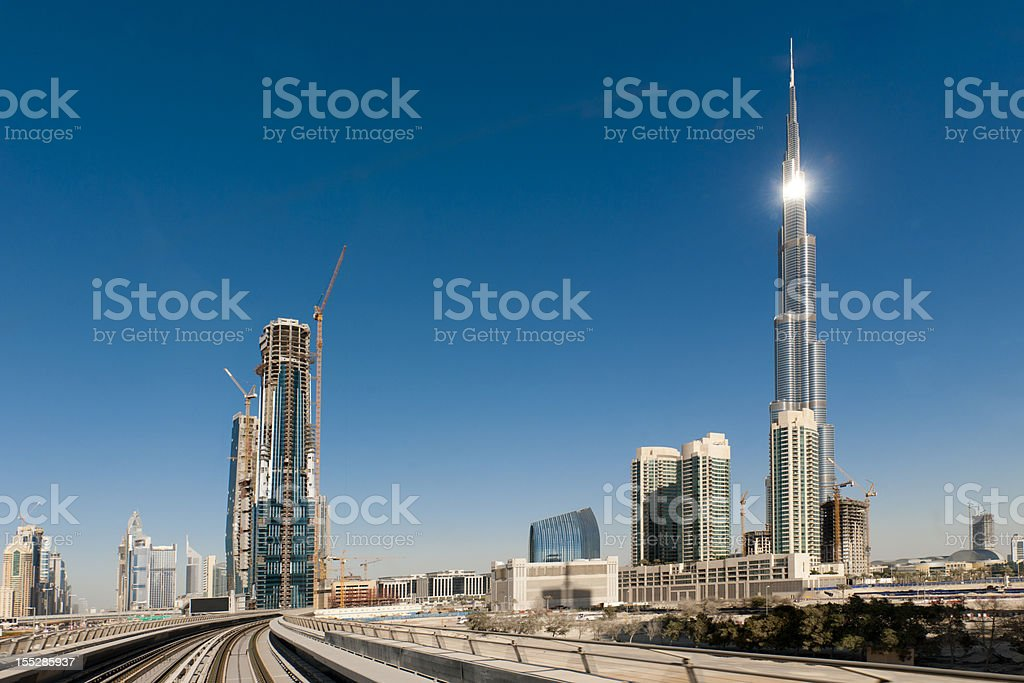 Burj Khalifa Dubai Skyline royalty-free stock photo