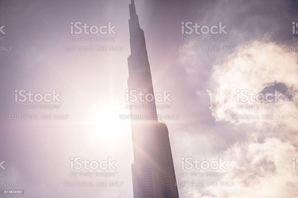 Burj Khalifa, Dubai - The tallest tower in the world stock photo