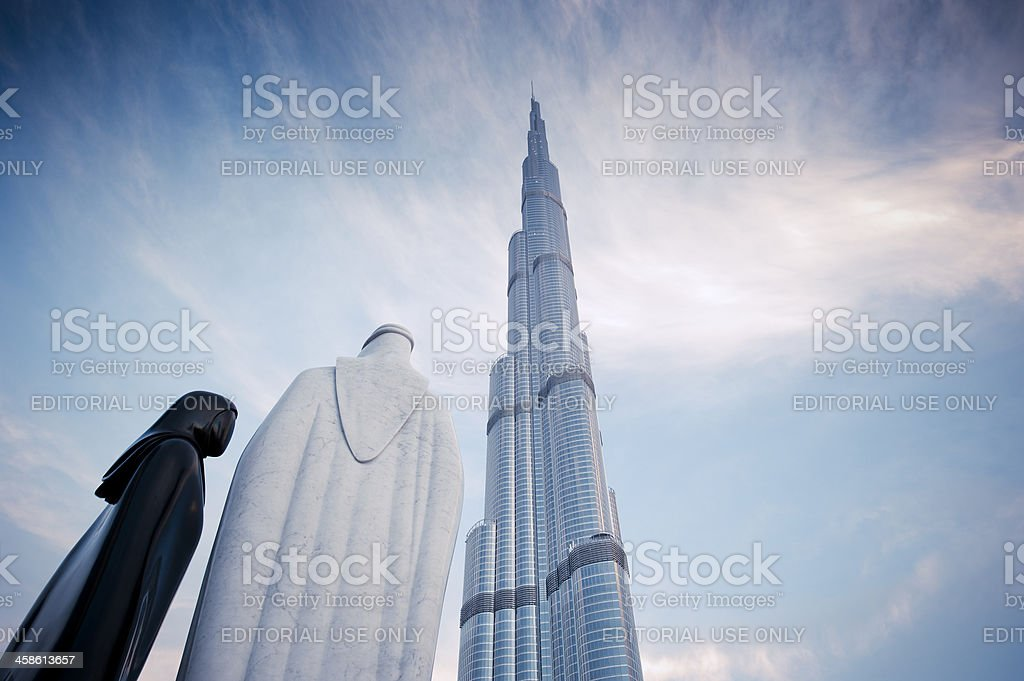 Burj Khalifa, Dubai, UAE royalty-free stock photo