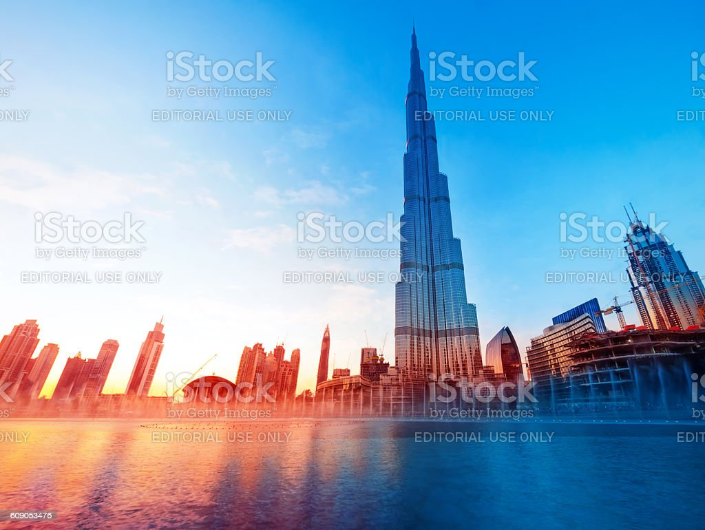 Burj Khalifa Dubai's Landmark stock photo