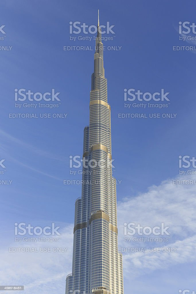 Burj Khalifa in Dubai royalty-free stock photo