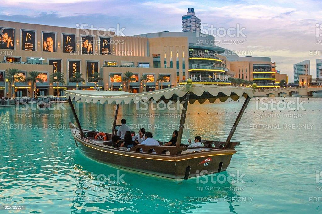 Burj Khalifa Lake stock photo