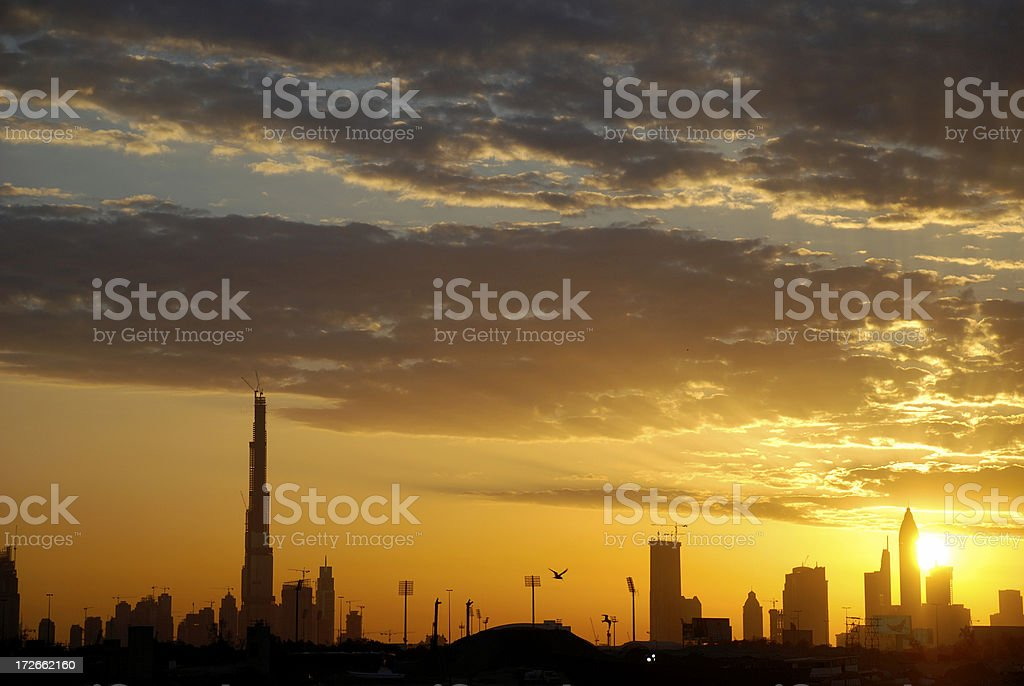 Burj Khalifa Sunset royalty-free stock photo