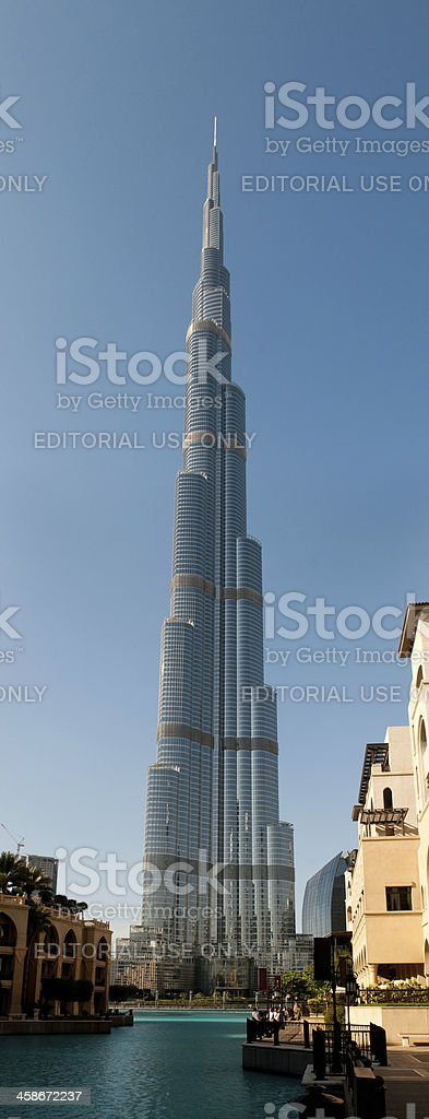 Burj Khalifa - the world's tallest tower royalty-free stock photo