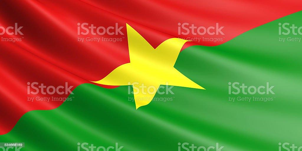 Burkina Faso flag. royalty-free stock photo