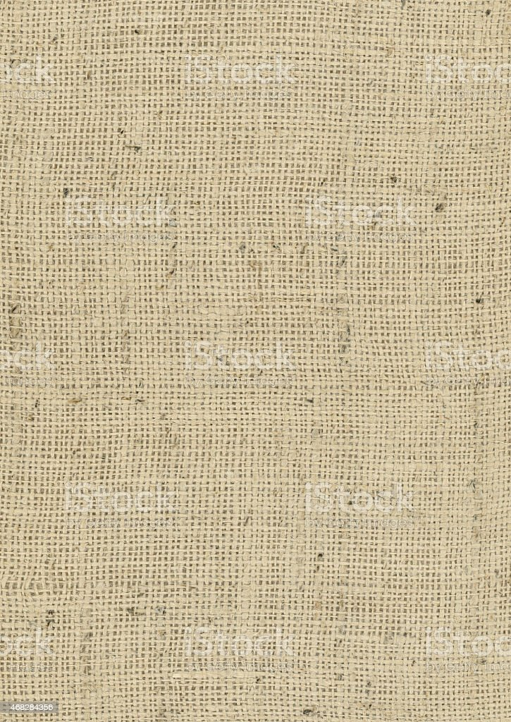 Burlap Background Fabric - Potato Sack Fabric stock photo