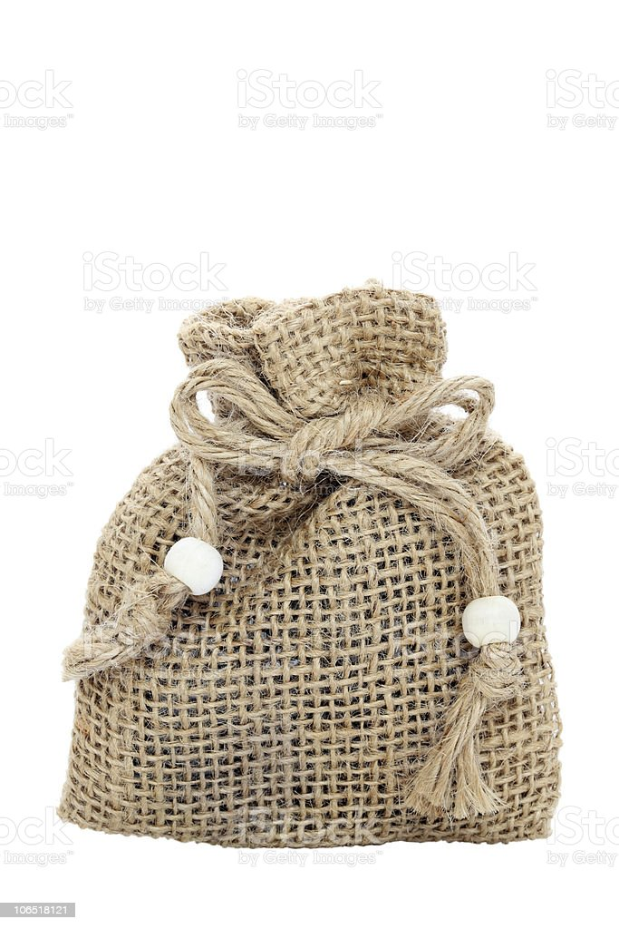 Burlap bag royalty-free stock photo