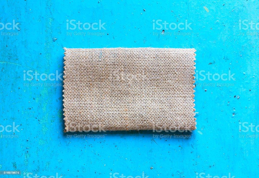 Burlap cloth stock photo