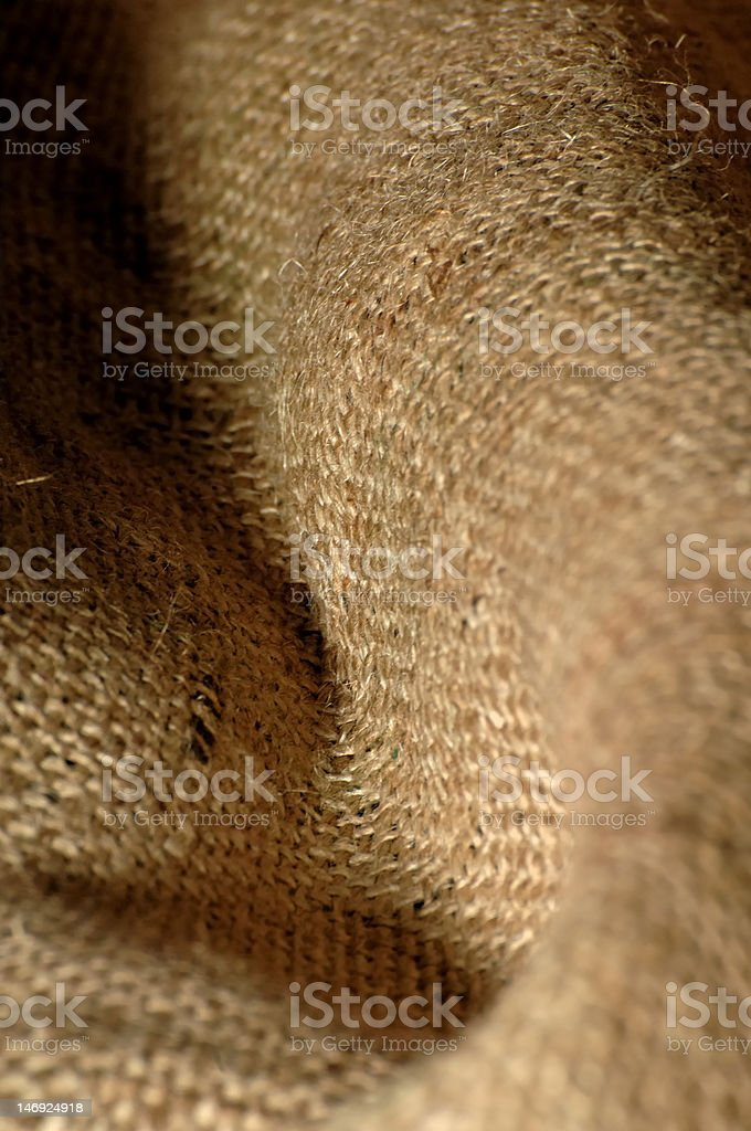 Burlap Curve royalty-free stock photo