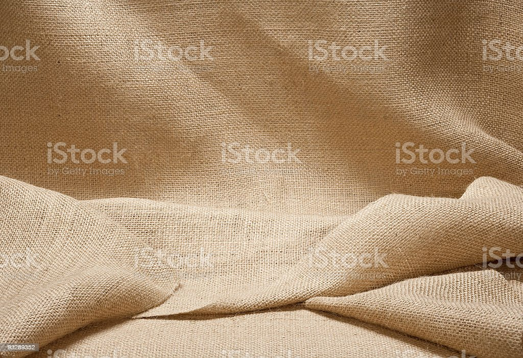 Burlap Display (Backdrop) royalty-free stock photo