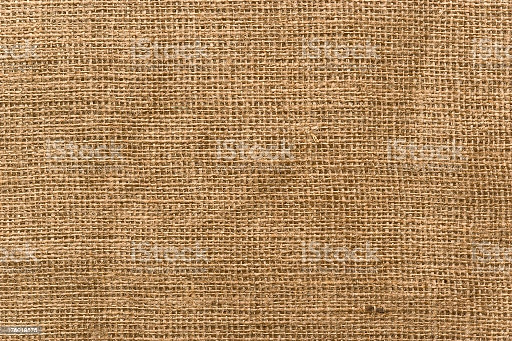 Burlap Fabric with a lot of intricate detail. Full Frame. royalty-free stock photo
