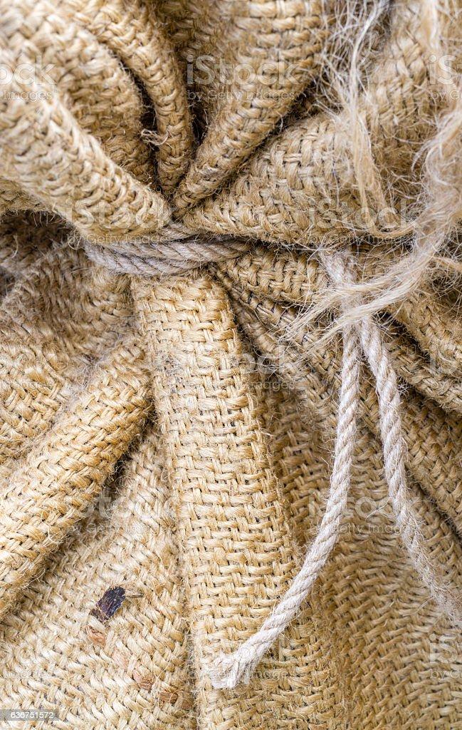 Burlap natural texture stock photo
