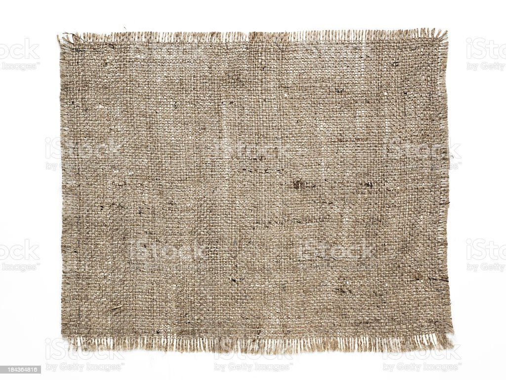 Burlap patch royalty-free stock photo